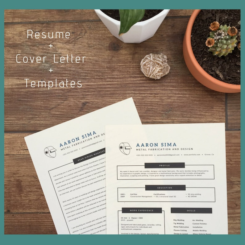 Modern Resume and Cover Letter, Resume Writing, Resume Template with Photo