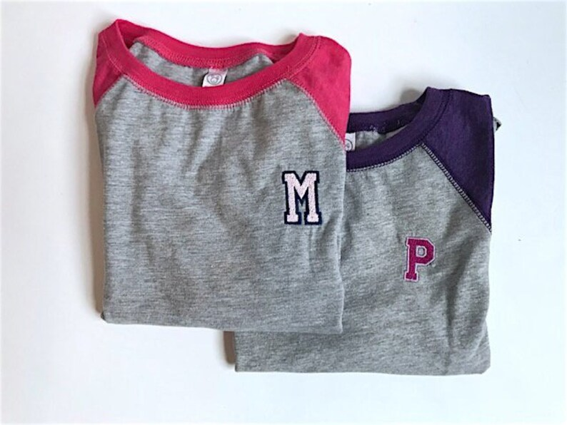 7211883a Girls custom jersey tee / Customized girls baseball raglan / | Etsy