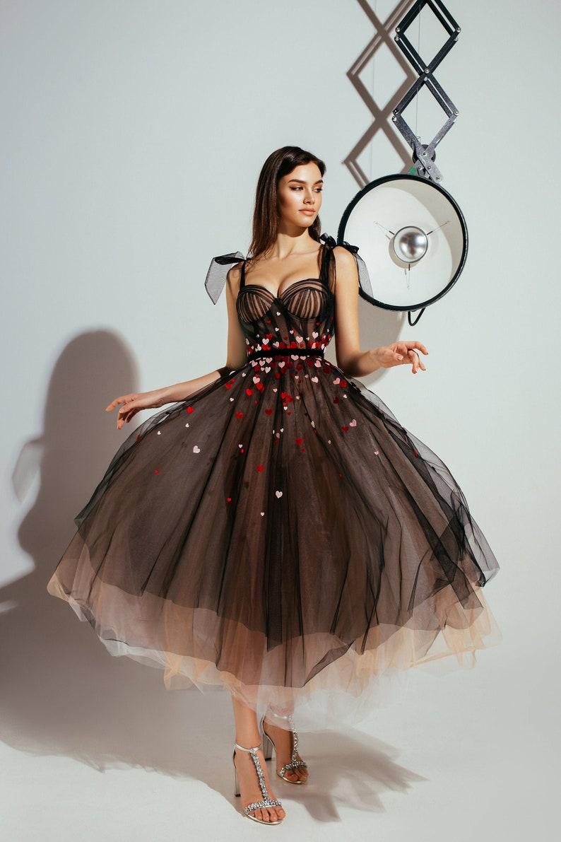 black dress black wedding dress Evening Long Prom Dress image 0