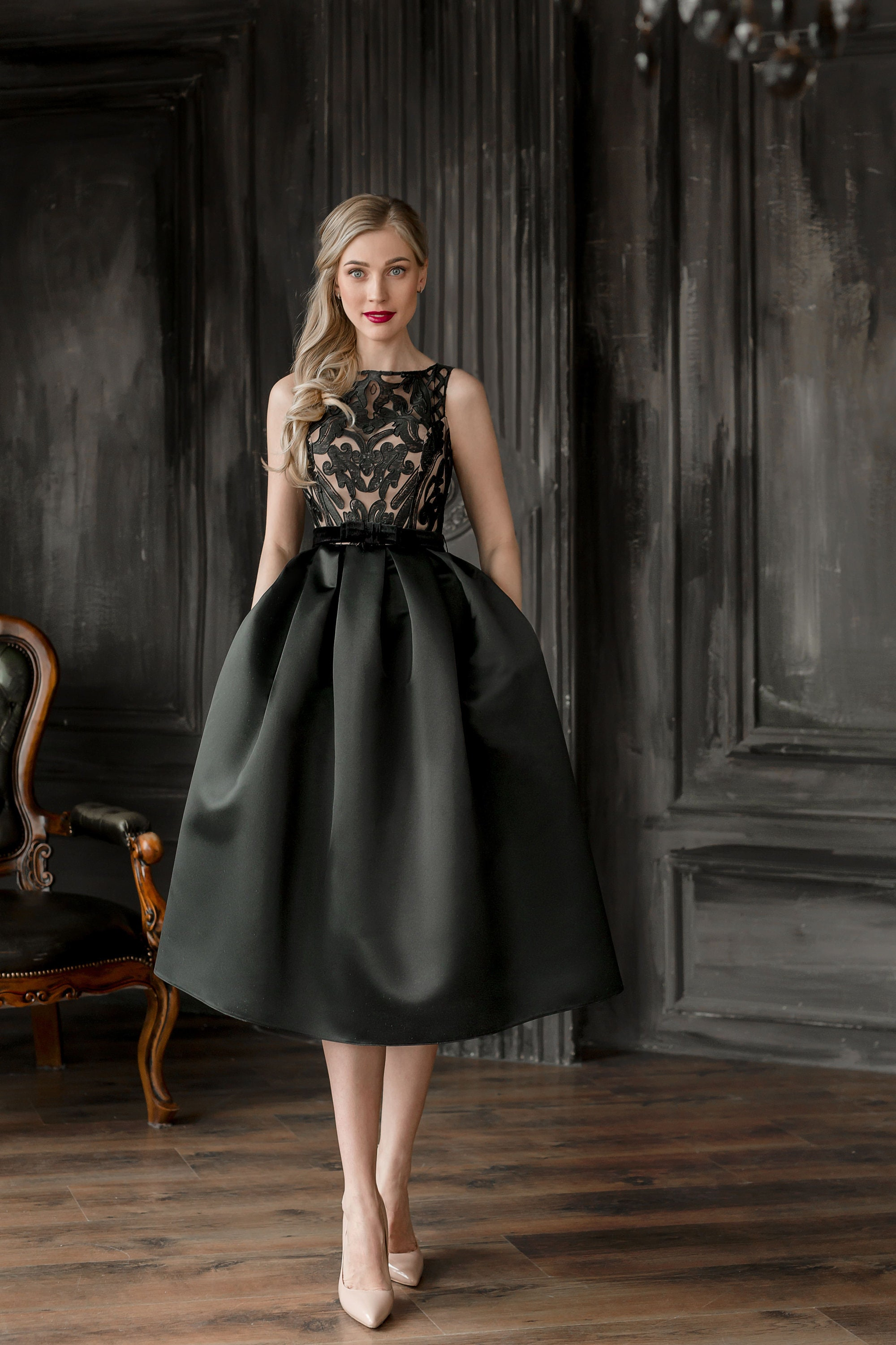 a23b5703f18 Black And Gold Short Formal Dresses