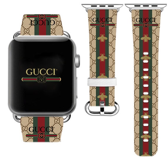 b4db73a3a16 Bee Apple Watch 44mm Inspired by Gucci iWatch Band iWatch