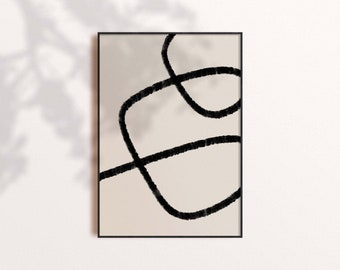 Blue Stroke Lines 2 Prints Illustrations Mid Century Abstract Set Of 3 Wall Art Blue Stroke Lines 3 Blue Stroke Lines 1