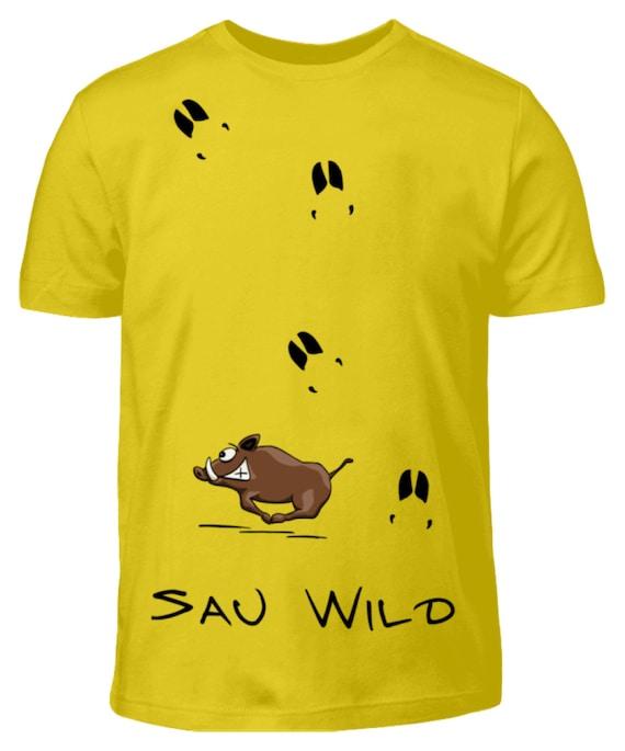 Wildschwein Zoom Lustiges Geschenk f/ür J/äger Jagd T Shirt