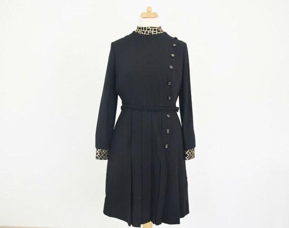 Russian dress of wool, 80s