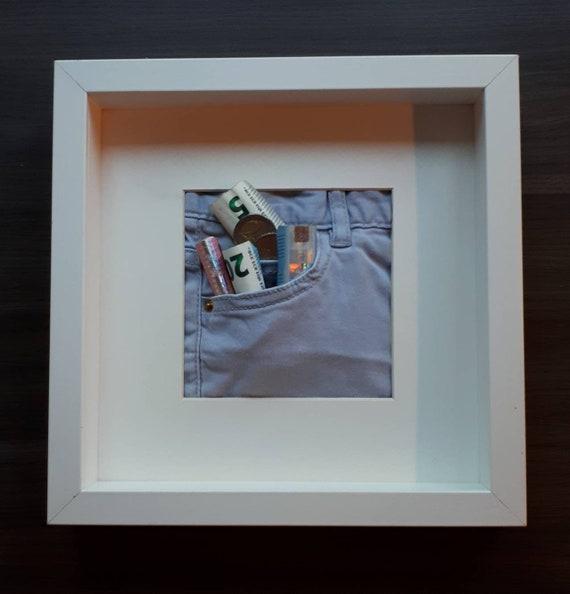 Unikat Geldgeschenk Kunst Im Bilderrahmen Zum Geburtstag Etsy