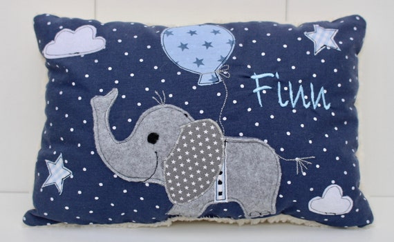 Pillow with name pillow birth cuddly