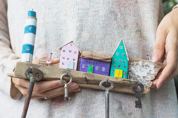 Sea Themed Wooden Lighthouse Nautical Sculpture Birthday Party Decor Gifts