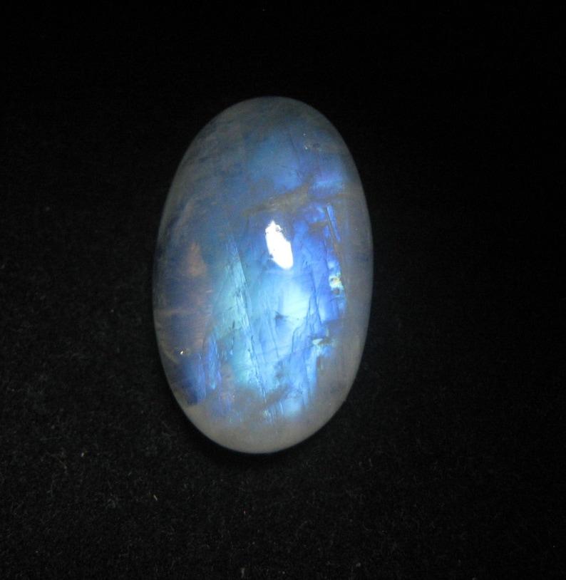 Rainbow Moonstone Cabochon Flat Back Oval Gemstone 15 x 24 x 8 mm Natural Rainbow Moonstone Gemstone For Jewelry Making Moonstone #2964