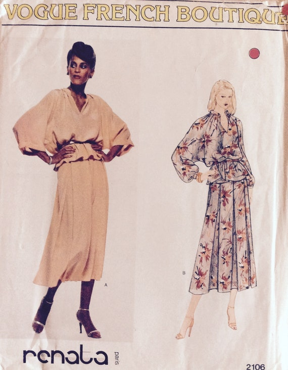 Schnittmuster Kleid / Sommerkleid Vogue 2106 | Etsy