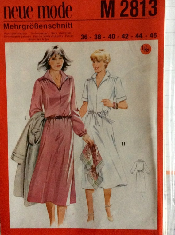 Schnittmuster Kleid neue Mode M 2813 | Etsy