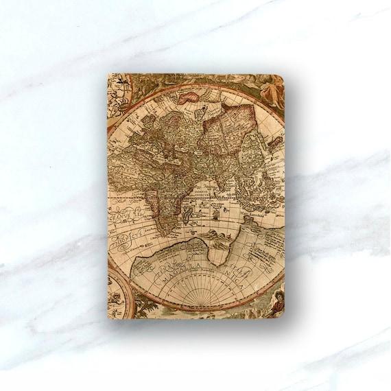 World Map Passport Holder.World Map Passport Cover Leather Passport Holder Vintage World Etsy