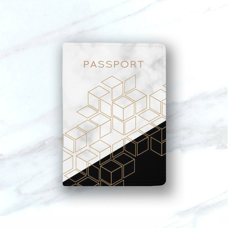f84a2599deb4 Marble Leather Passport Cover white gold Marble Passport Holder Leather  Passport Case Personalized Passport Holder Passport ID Cover marble