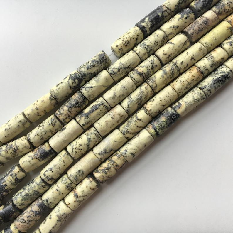 Yellow Turquoise Natural Tube Genuine Semi-precious Gemstone beads 8x16mm 15/'/'L