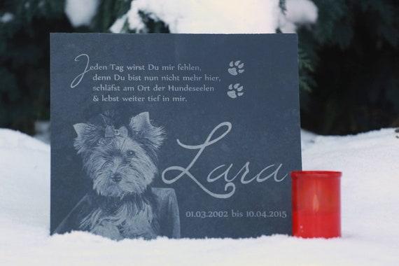 Schieferplatte Schiefertafel Schiefer Grabstein Für Tiere Mit Eigenem Foto 1 Cm Stärke