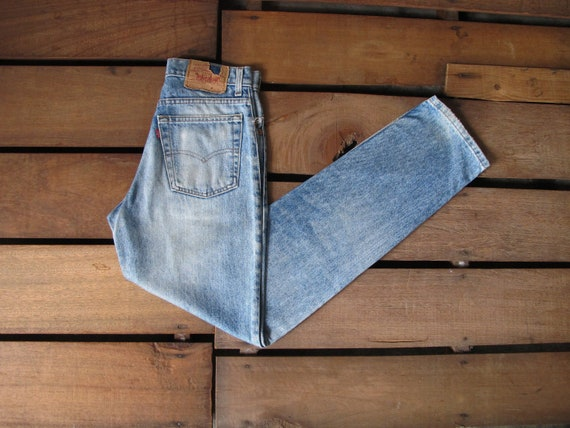 90's Levi Strauss 510 High Waist Women Faded Blue