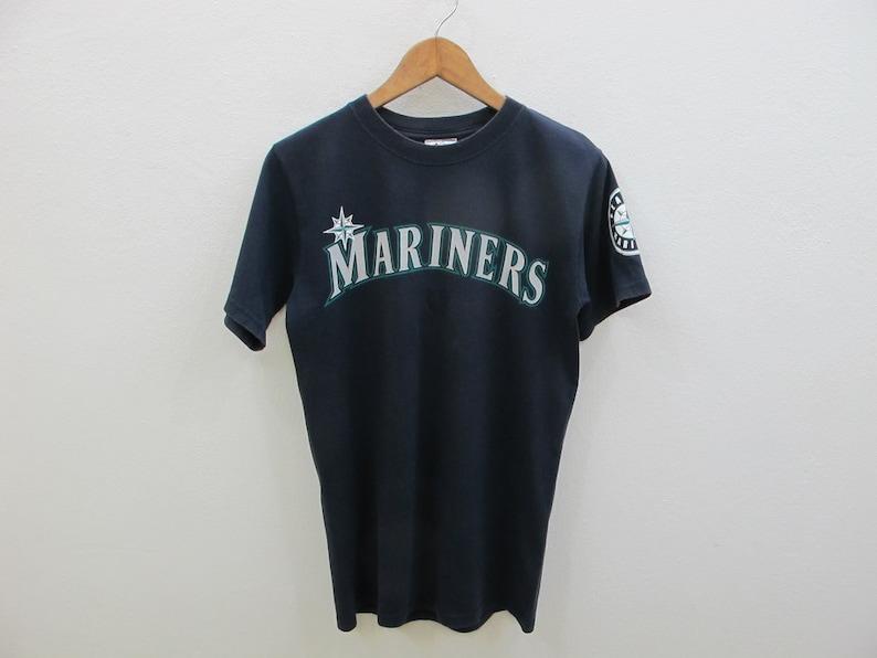 separation shoes 2362c 1c2fc Vintage Majestic Ichiro Suzuki Seattle Mariners Jersey T-Shirt Men Small  90's Mariner Tshirt Faded Navy Blue MLB