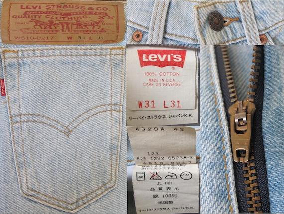 90's Distress Levi Strauss 525 High Waist Tapered… - image 9