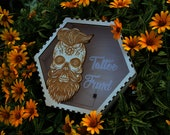Adult Tattoo Fund Wooden Sugar Skull Man with Beard Personalized Large Money box