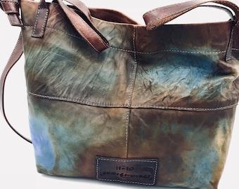 97fc636708 Italian leather tote handbag shoulder bag