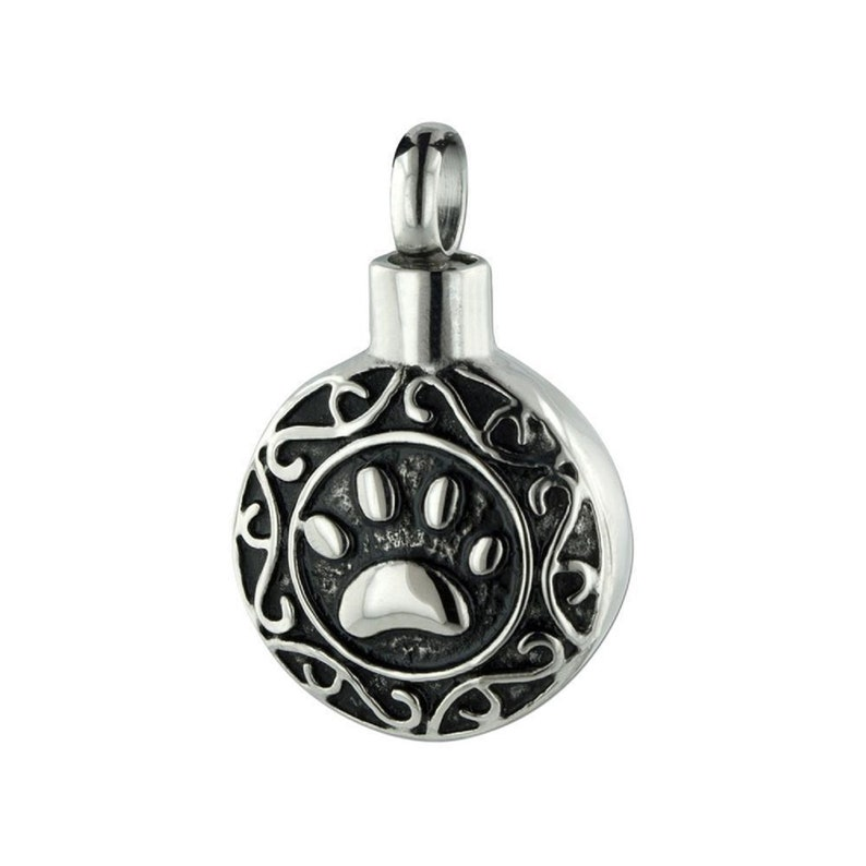 Eternity Paw Stainless Steel Cremation Jewelry