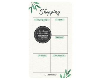 Magnetic fridge organiser/Shopping list/Whiteboard Shopping list/12cm x 20.5cm/Housewarming gift