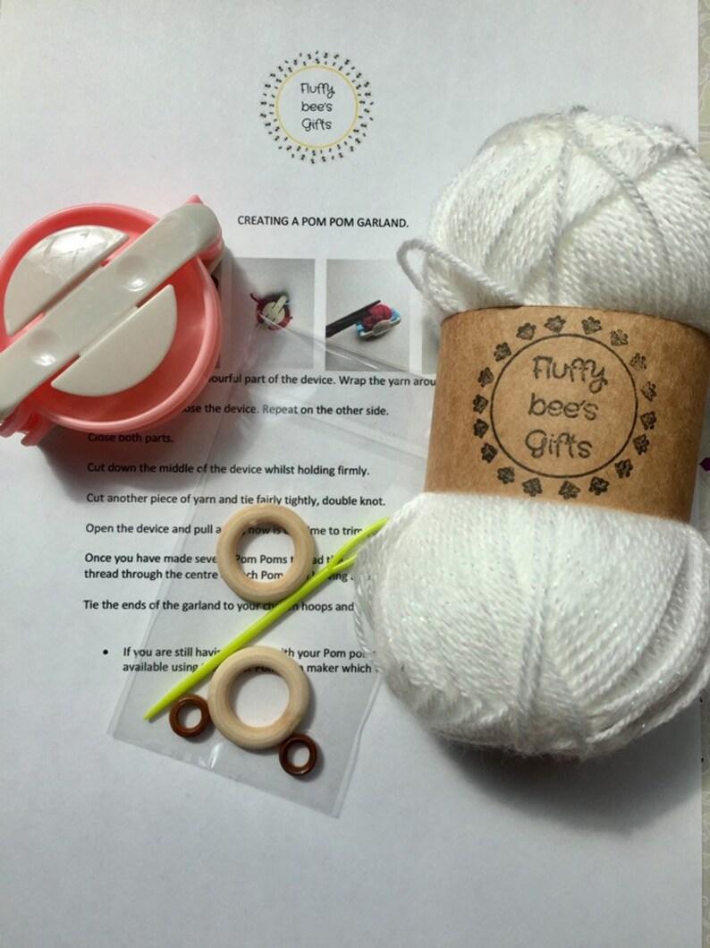 Pom pom maker kit pom pom garland maker kit craft kit.