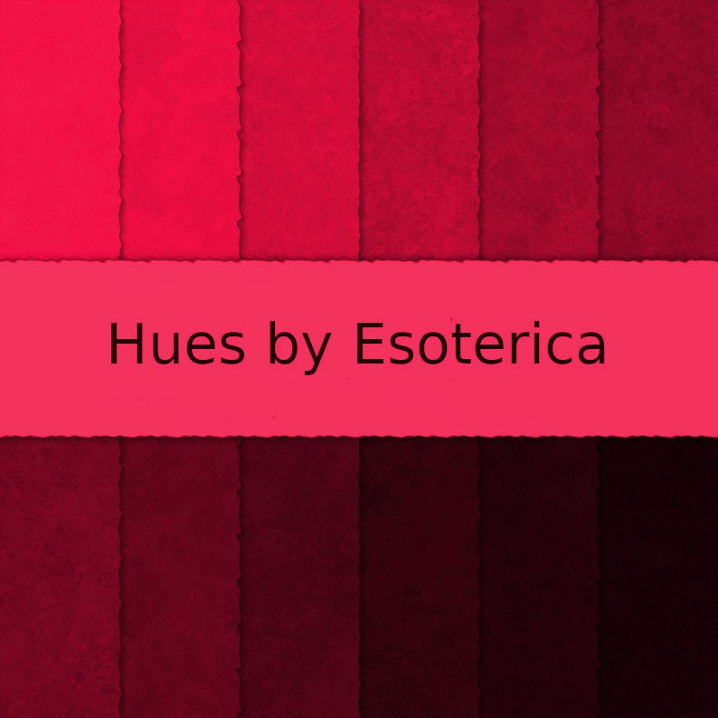 Hues by Esoterica Red Digital Paper Pack