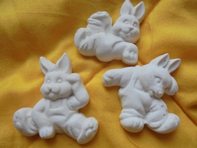 plaster... playing mold for casting soap Easter bunny