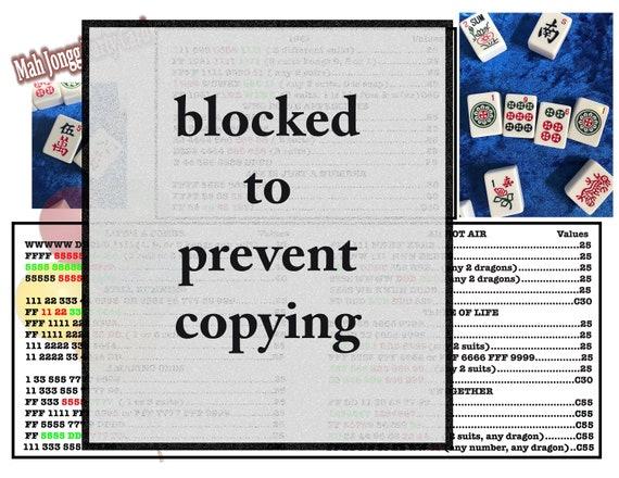 Print at home PLAYABLE Birthday Mahjong Card (8-1/2