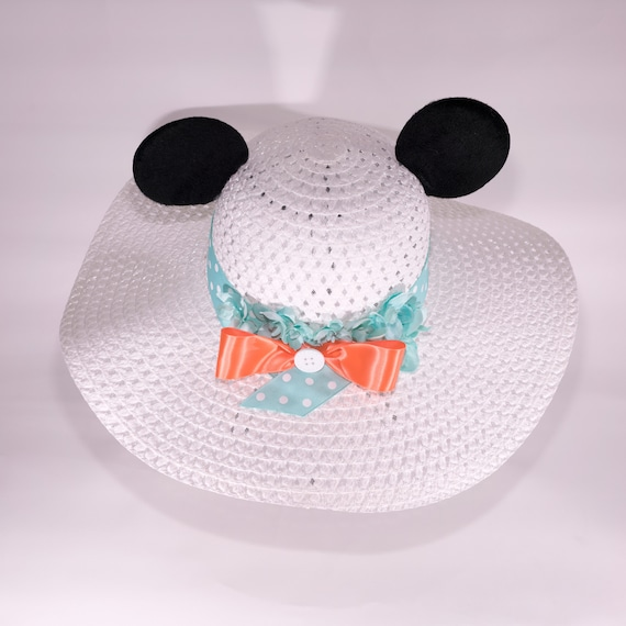 Minnie or Mickey Mouse Ear Sun Hat | Etsy