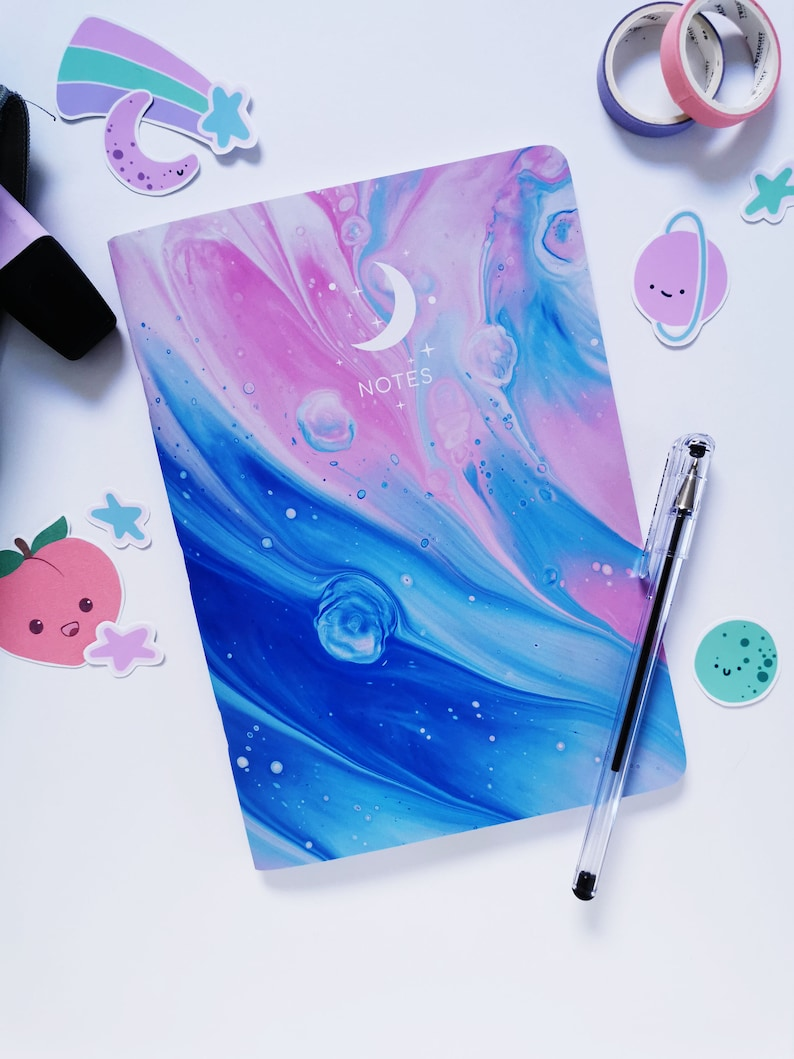 Pastel Aesthetic Notebook Purple Pastel Notebook Dot Grid ...