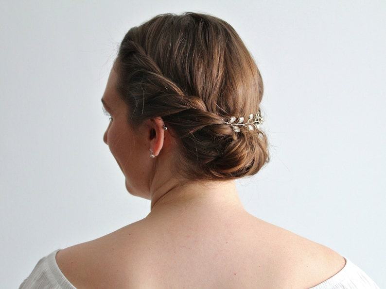 Crystal Bridal Hair Vine Simple Wedding Crystal Headpiece