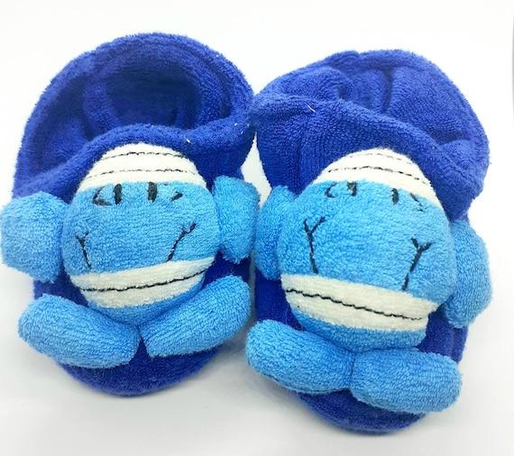 Mr Men Mr Bump Blue Soft Booties Pram Shoes
