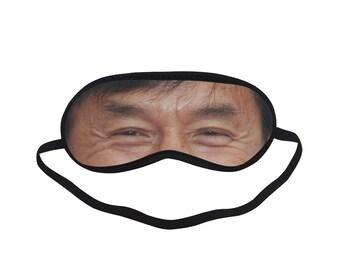 88e61e485 EOL146 Jackie Chan Eye Printed Eyes Mask Adult Blindfold Sleep Masks Party  Soft Padded Sleeping Mask Cover Relax Travel Gifts Custom Mask