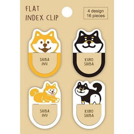 Marcap/áginas 8 unidades Pine Book Shiba Inu Index Clip