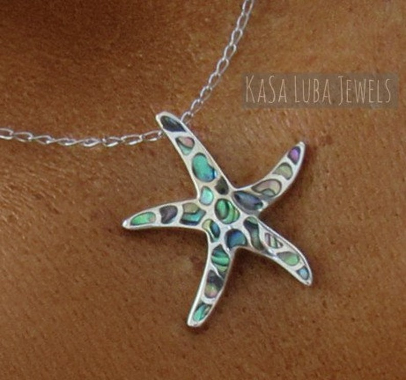 Small Design Style Starfish .925 Sterling Silver Slide Through Pendant