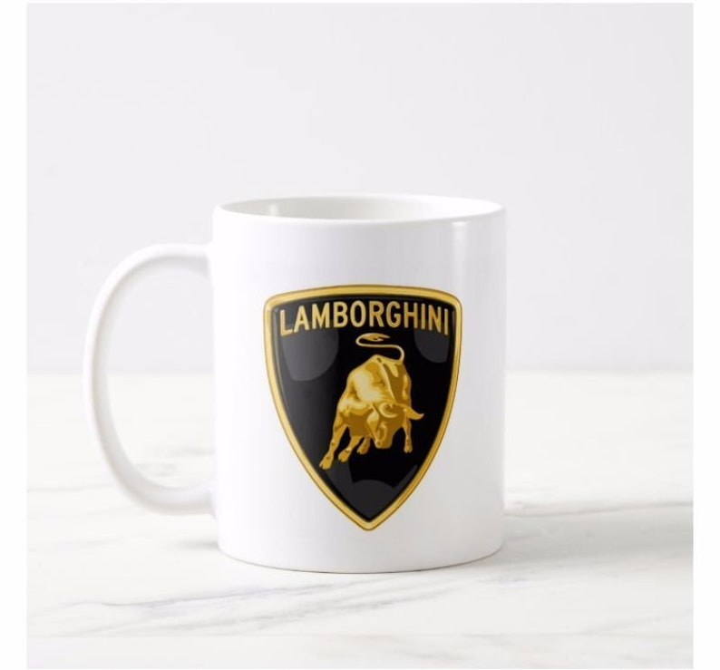 Lamborghini Car Logo Official Personalised Mug Cup Present Etsy