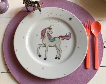 Hand-painted porcelain ,Unicorn