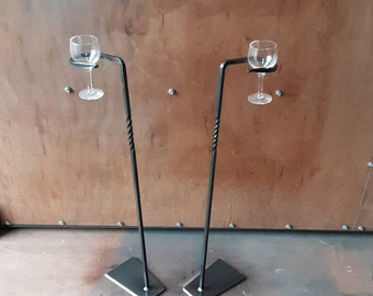 Handcrafted wine glass holder (self standing)