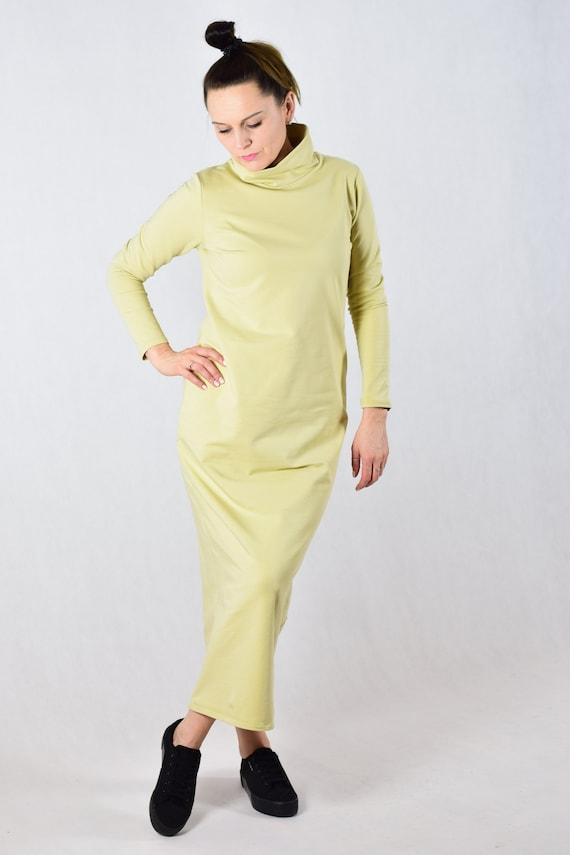 3f924d2905 Sukienka maxi z golfem Klasyka Gatunku
