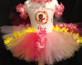 Personalized Inspired by Moana tutu outfit Birthday tutu