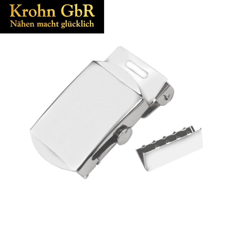 2 Stück Leder Gürtelschnallen Metallgürtelschnalle  Automatic Schnalle