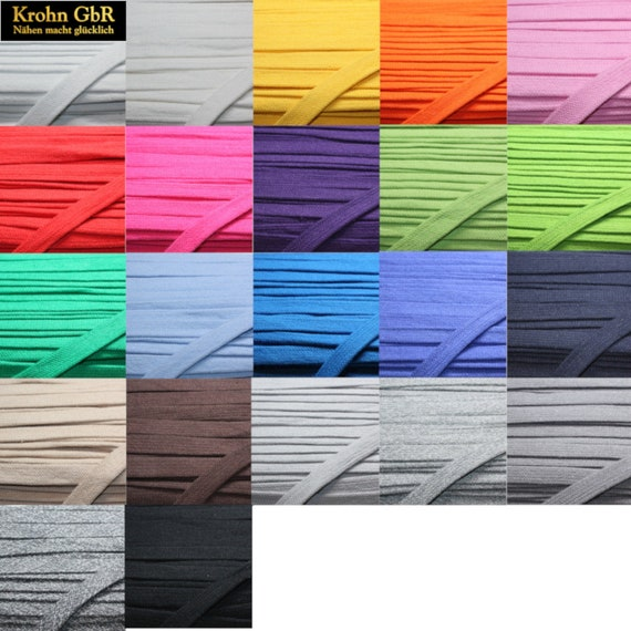 1m*10mm Flachkordel Hoodieband Flachschnur Schnur Farbwahl