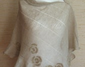 Linen Scarf Cape Clothing Nature Grey Beige