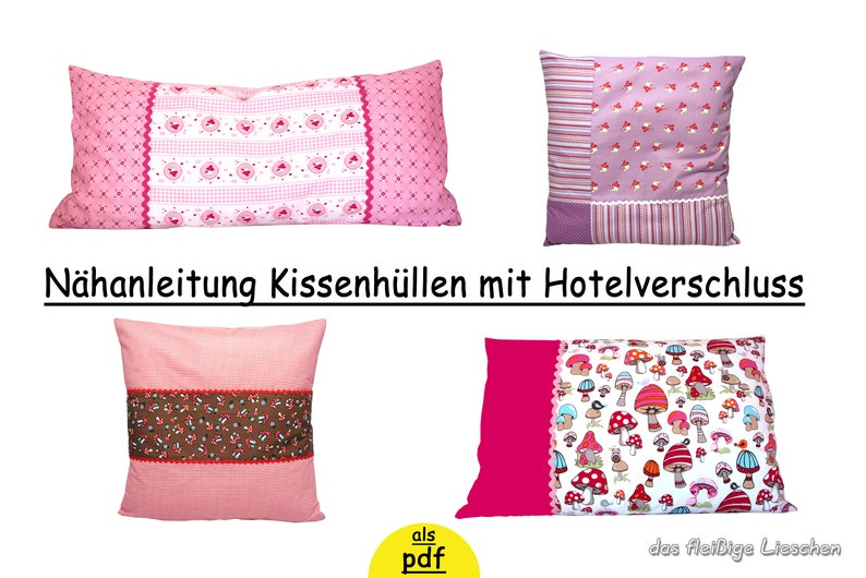 E Book Kissen Mit Hotelverschluss Nähanleitung Etsy
