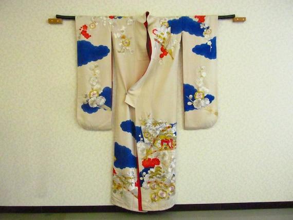 K81 / Vintage Japanese Kimono / Cosplay Remake / M