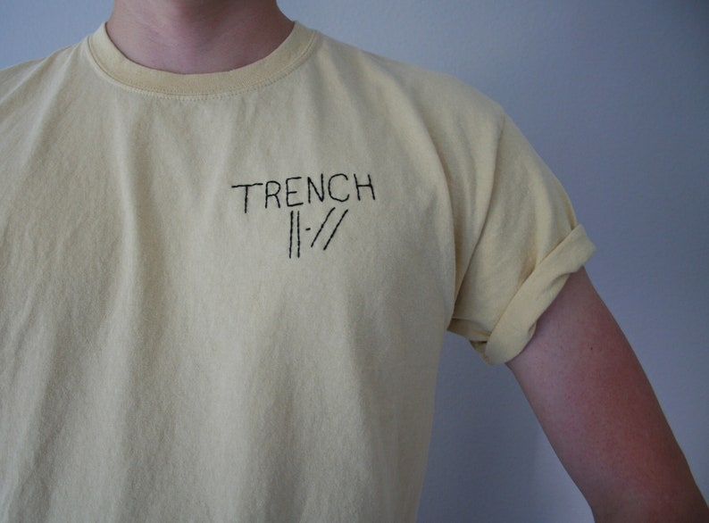 be36551af4b9a TRENCH Twenty One Pilots Hand Embroidered Custom Black or