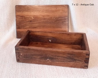 Wood Box With Lid Etsy
