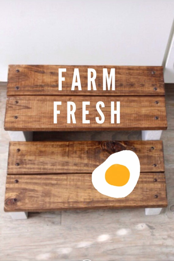 Amazing Wooden Farm Fresh Kitchen Stool For All Ages Creativecarmelina Interior Chair Design Creativecarmelinacom