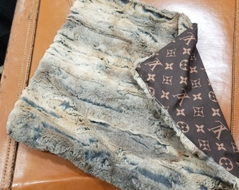 3d0b31f2a359 Louis Vuitton inspired Fox fur minky Lovey